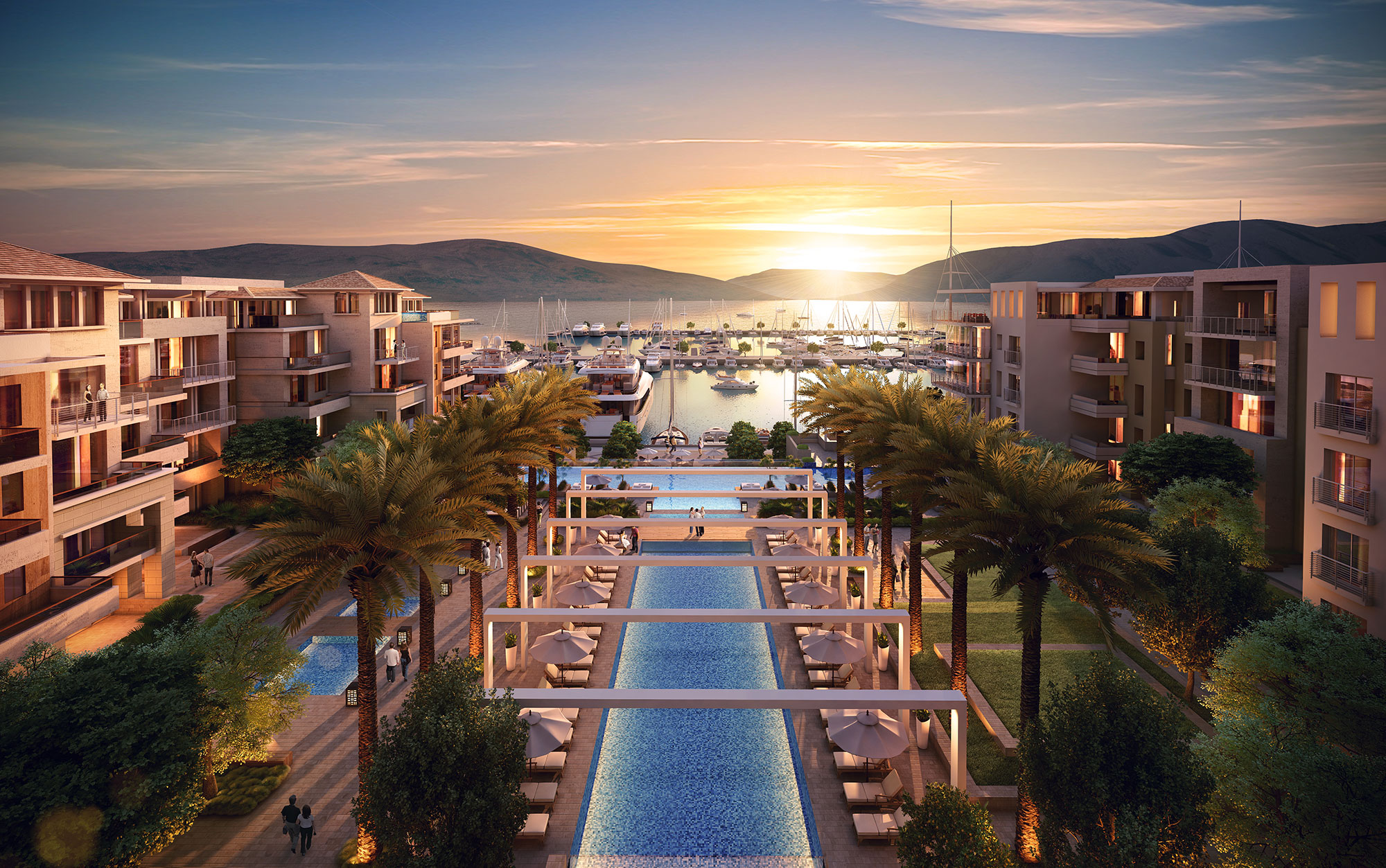 Regent porto montenegro hotel and residences lighting for Hotel design kotor