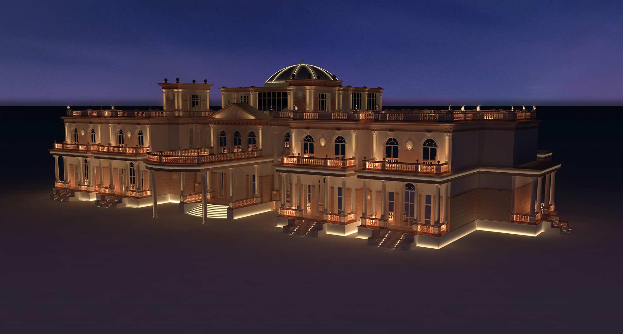 Beach villa one qatar lighting design visual energy